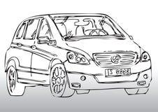 Σκίτσο του σύγχρονου αυτοκινήτου Στοκ Φωτογραφία