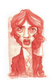 Σκίτσο του Richard Paul Ashcroft watercolour Στοκ Εικόνες
