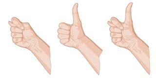 Σκίτσο τριών αντίχειρων Στοκ Φωτογραφία