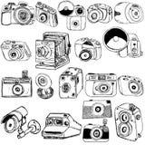 Σκίτσο φωτογραφικών μηχανών φωτογραφιών Στοκ Εικόνες