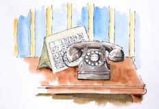 σκίτσο χρώματος καλλιτ&epsilo ελεύθερη απεικόνιση δικαιώματος