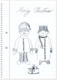 σκίτσο Στοκ φωτογραφία με δικαίωμα ελεύθερης χρήσης