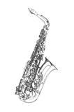 Σκίτσο Saxophone απεικόνιση αποθεμάτων