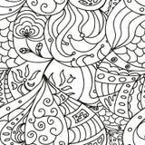 Σκίτσο Zentangle Στοκ φωτογραφία με δικαίωμα ελεύθερης χρήσης