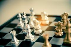 Σκακιέρα - μια ανταγωνιστική επιχειρησιακή ιδέα να πετύχει Στοκ Εικόνες