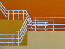 σκαλοπάτια κίτρινα Στοκ Εικόνες