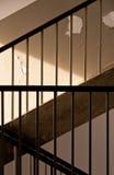 σκαλοπάτια κιγκλιδωμάτ&om Στοκ Φωτογραφίες