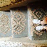 Σκαλοπάτια Μαρόκο Αραβικά παπουτσιών σχεδίων στοκ φωτογραφία