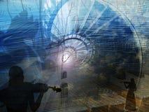σκαλοπάτια μουσικής Στοκ Εικόνα