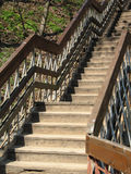 σκαλοπάτια ξύλινα Στοκ Φωτογραφίες