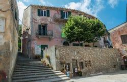 Σκαλοπάτια στην πόλη Marciana στοκ φωτογραφία