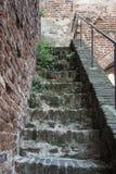 Σκαλοπάτια στον τοίχο πόλεων σε Cittadella, Ιταλία στοκ εικόνες