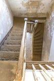 Σκαλοπάτια στο σπίτι φαντασμάτων Στοκ Εικόνες