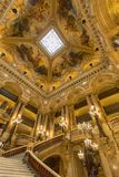 Σκαλοπάτια του Palais Garnier, όπερα Παρίσι Γαλλία Στοκ φωτογραφίες με δικαίωμα ελεύθερης χρήσης