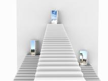 σκαλοπάτια τρία επερχόμενα Στοκ Εικόνες