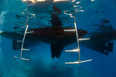 σκαλοπάτια υποβρύχια Στοκ Εικόνα