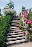 σκαλοπάτια φύσης ξύλινα Στοκ εικόνα με δικαίωμα ελεύθερης χρήσης