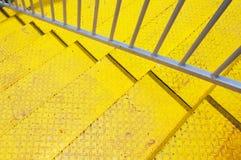 σκαλοπάτι κίτρινο Στοκ φωτογραφία με δικαίωμα ελεύθερης χρήσης
