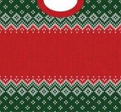Σκανδιναβικές διακοσμήσεις πλαισίων ευχετήριων καρτών καλής χρονιάς Χαρούμενα Χριστούγεννας Στοκ φωτογραφίες με δικαίωμα ελεύθερης χρήσης