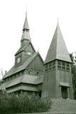 Σκανδιναβική εκκλησία σανίδων Στοκ Φωτογραφίες