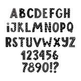 Σκανδιναβικό λατινικό αλφάβητο για τις ευχετήριες κάρτες διανυσματική απεικόνιση