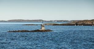 Σκανδιναβικό παλαιό σημάδι θάλασσας ναυσιπλοΐας πετρών Στοκ φωτογραφία με δικαίωμα ελεύθερης χρήσης