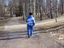 σκανδιναβικό περπάτημα Στοκ φωτογραφίες με δικαίωμα ελεύθερης χρήσης