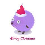 Σκαντζόχοιρος Χριστουγέννων Απεικόνιση αποθεμάτων