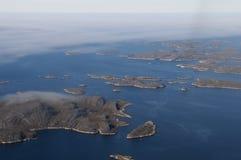 Σκανδιναβικά νησιά στοκ εικόνα