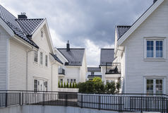 Σκανδιναβικά σπίτια Στοκ Εικόνες