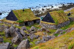 Σκανδιναβικά σπίτια Στοκ Φωτογραφία