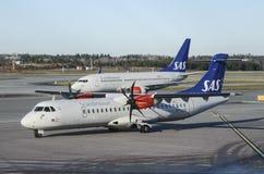 Σκανδιναβικές αερογραμμές της SAS Στοκ Εικόνες