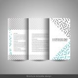 Σκανδιναβική επιχείρηση ύφους ή εκπαιδευτικό σχεδιάγραμμα, ιπτάμενο ή βιβλιάριο σχεδίου φυλλάδιων προτύπων trifold διανυσματική απεικόνιση