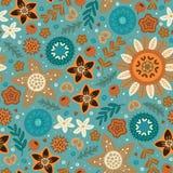 Σκανδιναβικό άγριο άνευ ραφής σχέδιο λουλουδιών Στοκ φωτογραφία με δικαίωμα ελεύθερης χρήσης