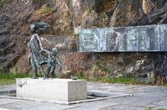 Σκανδιναβικό μνημείο αστεριών κρατών μελών Νορβηγία Όσλο Στοκ Εικόνα