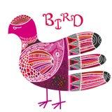 Σκανδιναβικό περίκομψο πουλί ύφους boho απεικόνιση αποθεμάτων
