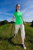 Σκανδιναβικό περπάτημα στοκ εικόνες με δικαίωμα ελεύθερης χρήσης