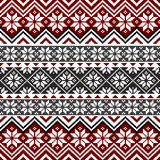 σκανδιναβικό snowflake προτύπων Στοκ εικόνα με δικαίωμα ελεύθερης χρήσης