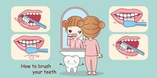 Σκαπάνη για να βουρτσίσει τα δόντια σας απεικόνιση αποθεμάτων