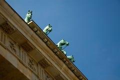 Σκαπάνη Brandenburger στο Βερολίνο Γερμανία Στοκ Φωτογραφία
