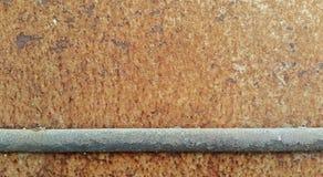Σκαρφαλωμένος σε ένα σκουριασμένο πιάτο χάλυβα Στοκ Εικόνες