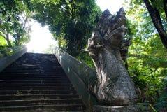 Σκαλοπάτια αγαλμάτων Naga Στοκ Φωτογραφία