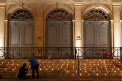 σκαλοπάτια κεριών Στοκ εικόνα με δικαίωμα ελεύθερης χρήσης