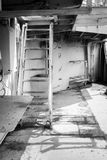 Σκαλοπάτια μετάλλων προς το εσωτερικό του υποβρυχίου στοκ φωτογραφία με δικαίωμα ελεύθερης χρήσης
