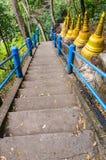 Σκαλοπάτια που τοποθετούν σε ένα βουδιστικό μοναστήρι Στοκ Φωτογραφίες
