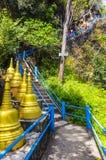 Σκαλοπάτια που τοποθετούν σε ένα βουδιστικό μοναστήρι Στοκ Εικόνες