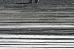 Σκαλοπάτια πλέγματος που περπατούν τον περίπατο η γραμμή Στοκ Φωτογραφία