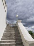 Σκαλοπάτια στην άποψη του πανοραμικού πυργίσκου Westmount στοκ εικόνες