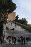 Σκαλοπάτια στην εκκλησία της Σάντα Μαρία σε Araceli στοκ φωτογραφία με δικαίωμα ελεύθερης χρήσης