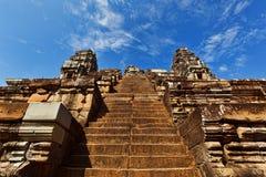 Σκαλοπάτια στην κορυφή του tenple σε Angkor, Καμπότζη Στοκ Εικόνες